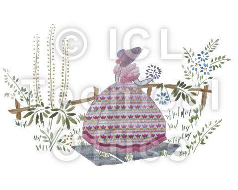 刺繍デザイン画像004:園遊会の麗人(ピンク)