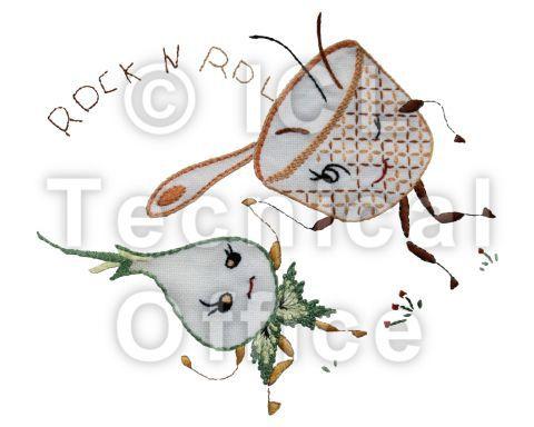 刺繍デザイン画像051:ロックンロール玉ねぎ