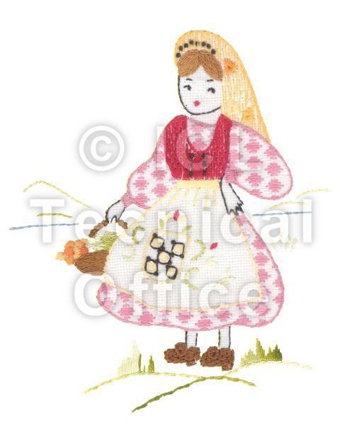 刺繍デザイン画像306:アルプスのスザンナ(スイス)