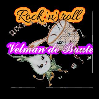 Embroidery sticker; Rock 'n' roll onion