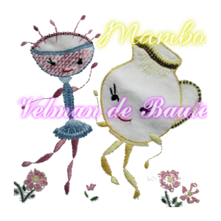 Embroidery sticker; Mambo turnip