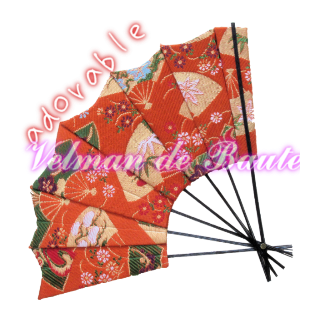 Japanese style sticker; Japanese folding fan('Sensu')