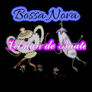 Embroidery sticker; Bossa Nova cucumber