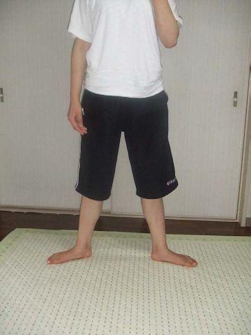 バレエ足のポジション(2番)