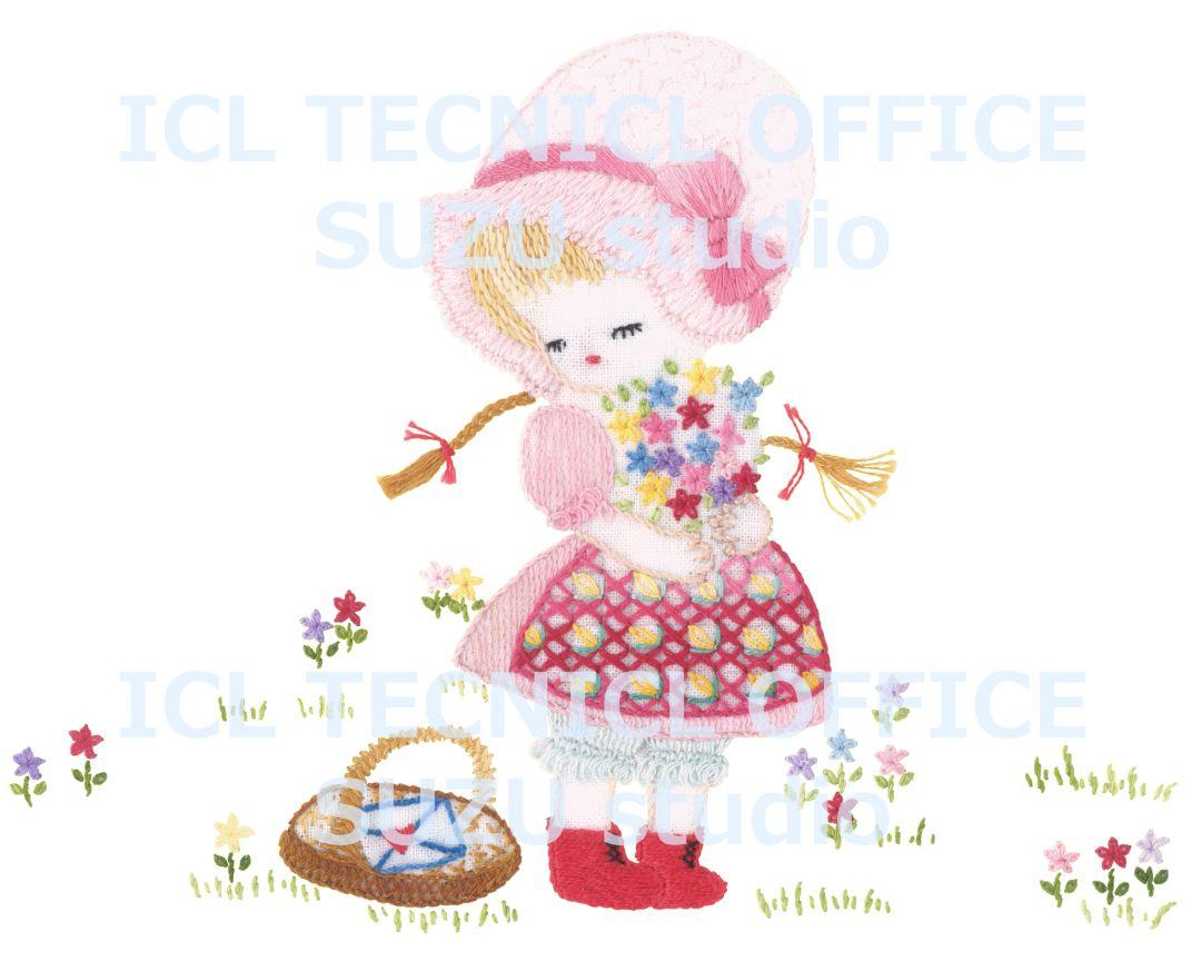 花を摘むアリス
