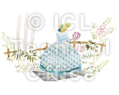 刺繍デザイン画像005:園遊会の麗人フィオナ(ブルー系)