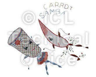 刺繍デザイン画像052:サンバ人参