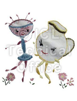 刺繍デザイン画像054:マンボ~グラス&ポット
