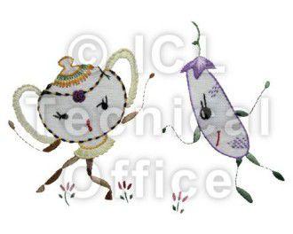 刺繍デザイン画像055:ボサノバきゅーり