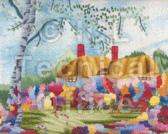 刺繍デザイン画像101:オランダの田園風景