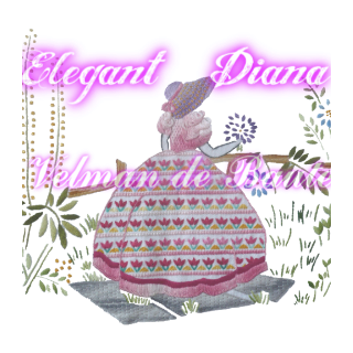 Embroidery sticker; The garden party's beautiful Diana(pink)