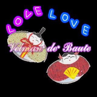 Japanese style sticker; Japanese Doll's Festival('Hinamatsuri')-a