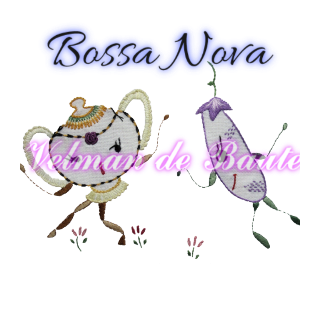 Embroidery sticker; Bossa Nova cucumber