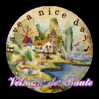 フランス刺繍デコメ 北欧の田園風景