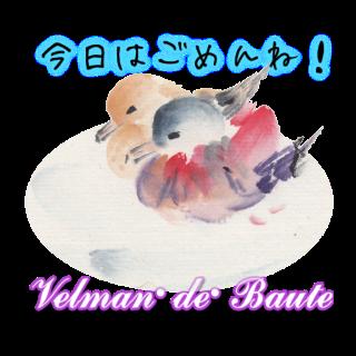 和風デコメ 鴨の番い