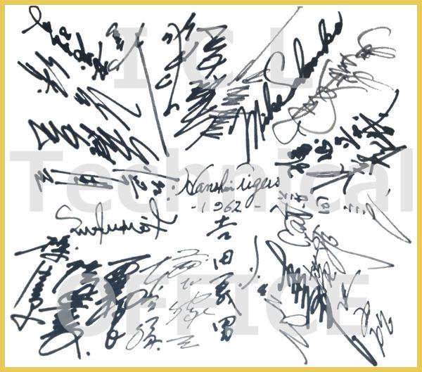 1962年 阪神タイガース優勝メンバー直筆サイン色紙 復刻コピー版