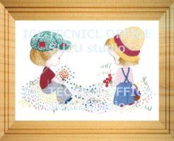 刺繍デザインプリント003:少年と少女のポルカ