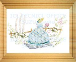 刺繍デザインプリント005:園遊会の麗人 ブルー系