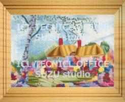 刺繍デザインプリント101:オランダの田園風景