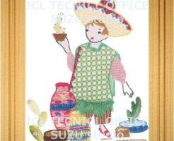 刺繍デザインプリント301:サボテン売りのダニエル