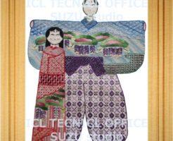 刺繍デザインプリント401:お内裏様とお雛様(ひな祭り)