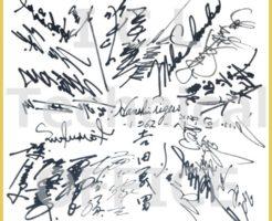 阪神タイガース初優勝1962年の直筆サイン 復刻複製色紙