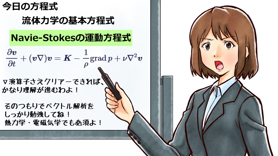 Navie-Stokesの運動方程式