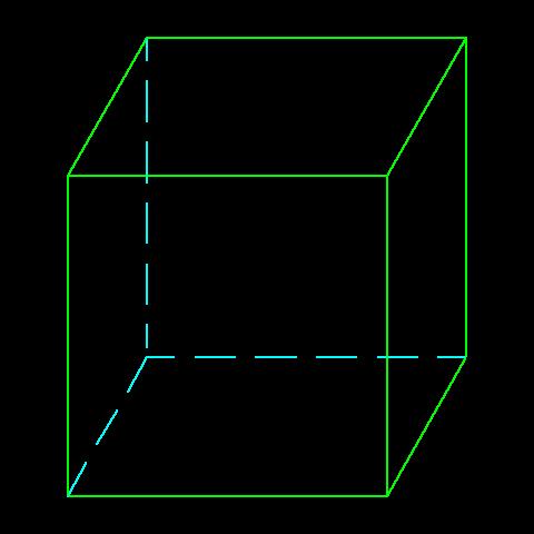 立方体 見取り図