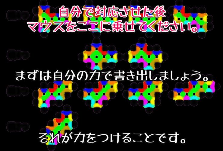 立方体の展開図における辺と辺の対応