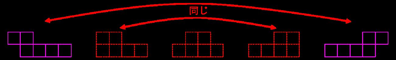 立方体 展開図2