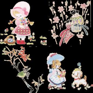 刺繍&和風デザイン スタンプセット