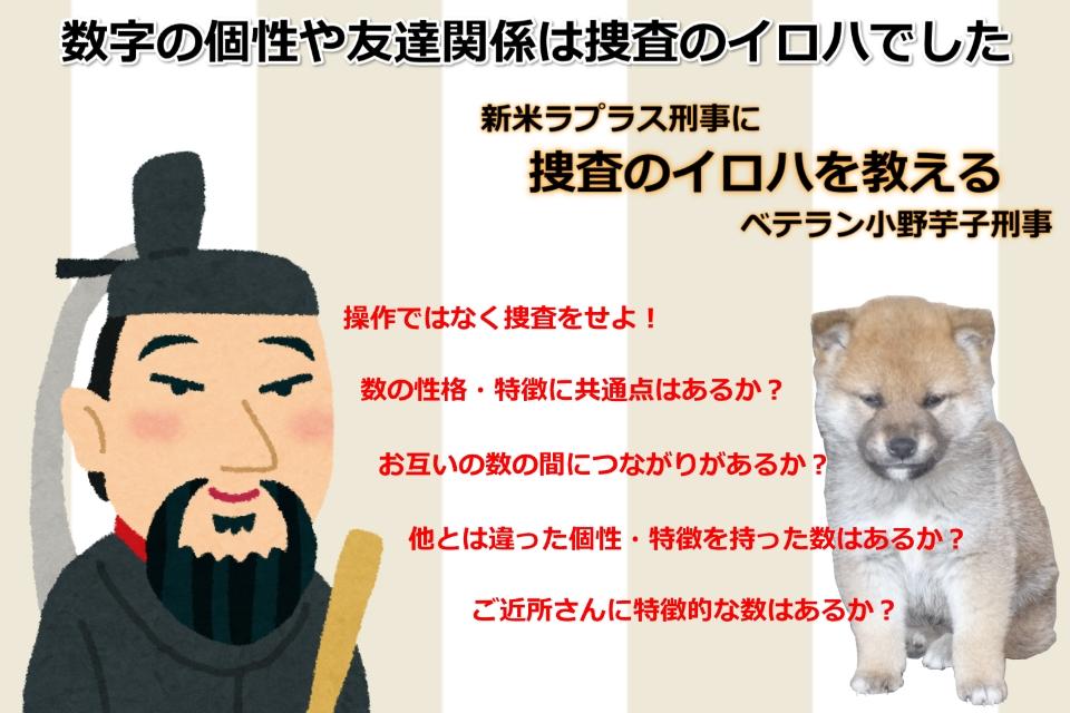 小野芋子の買い物~整数に挑む刑事の勘~