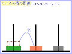ハノイの塔:3リング第2操作