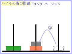 ハノイの塔:3リング第3操作