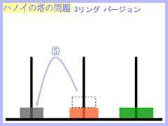 ハノイの塔:3リング第5操作