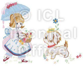 刺繍デザイン画像002:アンと愛犬ラプラス