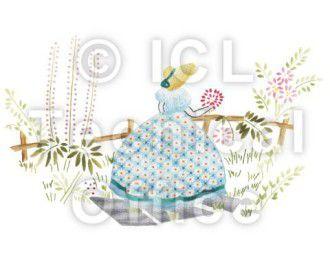 刺繍デザイン画像005:園遊会の麗人(ブルー)