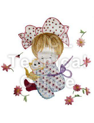 刺繍デザイン画像007:Juliaと愛猫チャーリー