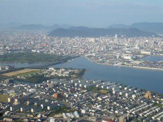 屋島から望む高松市内