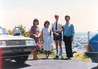 with Mr.John and Mrs.Michiko Young in Auckland・・・1985/02/02