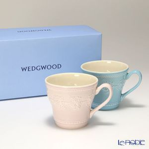 Wedgwood(ウェッジウッド)フェスティビティ マグ 300cc(ピンク&ブルー) ペア